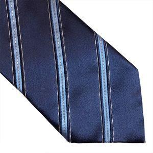 Ermenegildo Zegna Navy Striped Men's Necktie